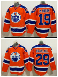 a1c4f1c07 Edmonton Oilers 19 Patrick Maroon Jersey Men Orange Alternate 29 Leon  Draisaitl Ice Hockey Jerseys All Stitched Breathable Free Shipping