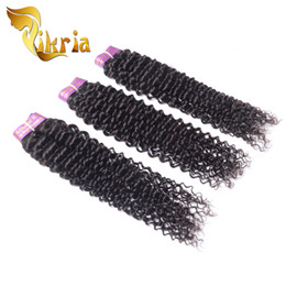 mongolian curly hair weave sale NZ - For Sale 3 Bundles Human Hair Wefts Indian Peruvian Brazilian Malaysian Mongolian Jerry Curly 3 Bundles Human Hair Wefts Natural Black