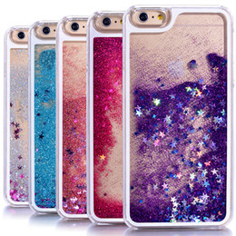 iphone 5s plastic clear 2019 - Dynamic Liquid Glitter Sand Quicksand Star Cases For iphone 4 4S 5 5s SE 6 6s   7 plus Crystal Clear phone Back Cover ph