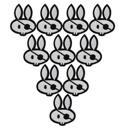 $enCountryForm.capitalKeyWord Canada - 10PCS rabbit skull embroidery patches for clothing iron patch for clothes applique sewing accessories stickers badge on cloth iron on patch