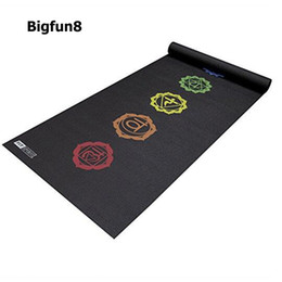 Fold yoga mat online shopping - Bigfun8 mm Thick NBR Fitness Thickening printing Yoga Mat gymnastics Exercise Anti Slip Folding mat fitness yoga Pilates Mat
