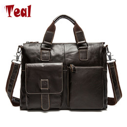 $enCountryForm.capitalKeyWord NZ - Wholesale- New fashion men bag men's Genuine Leather briefcase handbag vintage laptop bag luxury male business High capacity casual bags