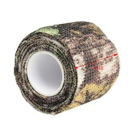 Paintball Camo UK - Outdoor Waterproof Elastic Stealth Tape Hunting Camouflage Tape Paintball Stretch Bandage Camo Tape Free DHL Shipping