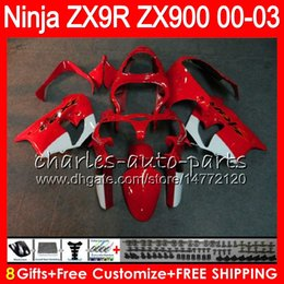 Zx9r fairing red online shopping - 8Gifts Colors For KAWASAKI NINJA CC ZX9R NO56 ZX R red black ZX900 ZX R ZX900C ZX R Fairing kit