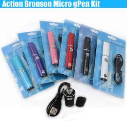 China New Action Bronson Herbal Vaporizer Blister Kit Wax dry herb atomizer micro Pen Colorful Portable Elips vapor e cig cigarettes vape kits DHL suppliers