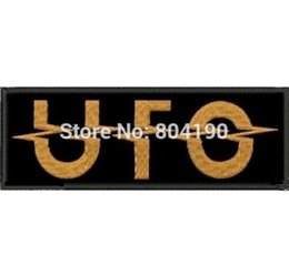"Rock Punk Band Patch UK - 4.6"" UFO U.F.O. HEAVY METAL HARD ROCK CLASSIC NWOBHM Music Band EMBROIDERED IRON On Patch APPLIQUE Rock Punk Badge"