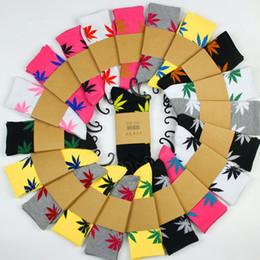 33Colors chaussettes de noël plantlife pour hommes femmes chaussettes de coton de haute qualité skateboard hiphop feuille sport chaussettes d'érable en gros Free DHL Fedex