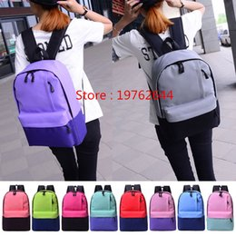 $enCountryForm.capitalKeyWord Australia - NEW Arrival - 10 Colors Preppy Style School Bags Casual Student Backpacks, Nylon Two-tone Girls Shoulder Bags Fashion Computer Bag