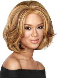 China Z&F Short Human Hair Wigs 25cm Gold Fashion US Monofilament Wig Short Fluffy Curlygs Wave Cut Wigs cheap monofilament human hair wigs suppliers