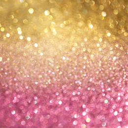 Gold And Pink Bokeh Backdrop Photography Wallpaper Polka Dots Children Newborn Baby Studio Backgrounds Photo Booth Props