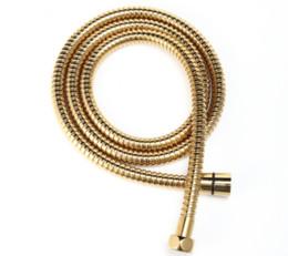 Tubo flessibile di doccia flessibile del bagno dell'acciaio inossidabile di rivestimento di 1,5m 60 pollici d'oro per la testa di doccia tenuta in mano in Offerta
