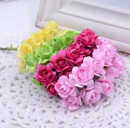 $enCountryForm.capitalKeyWord Canada - 144Pcs Bag Mini Paper Rose Artificial Flowers Bouquet For Wedding Craft Decoration DIY Wreath Box Accessories Garland Supplies