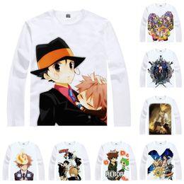 T Shirts Style Australia - Anime Shirt Katekyo Hitman Reborn! T-Shirts Multi-style Long Sleeve Home Tutor Tsunayoshi Sawada Cosplay Motivs Kawaii Shirts