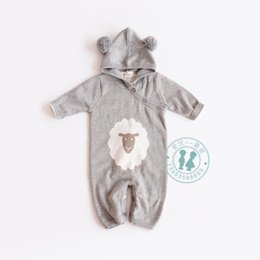 design sleeveless hoodie 2019 - 2018 baby kids climbing romper little sheep design long sleeve sweater romper toddler boutique 100% cotton baby double-d