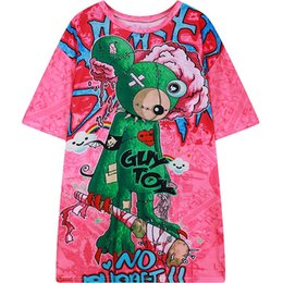 0d1aa2b65f4 2017 summer new womens t-shirt graphic print short sleeve HARAJUKU tee top  for woman ladies loose tshirt punk style pink T Shirt