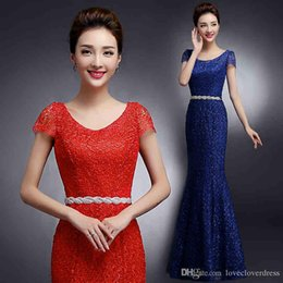 Barato Designer Vestidos De Laço Do Clube-New Designer Celebrity Evening Dresses Mermaid Long Vestidos de baile formal 2017 Elegant Lace Dresses Party Evening Gowns