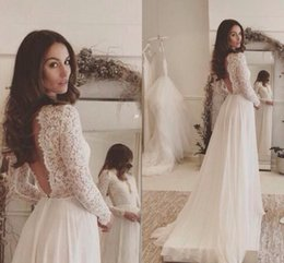Modest Wedding Dresses With Sleeves Rustic Lace Country Dress Vestidos De Noivas Para Backless Bridal Gowns Cheap Plus Size