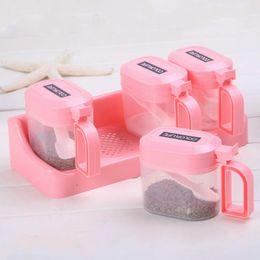 $enCountryForm.capitalKeyWord Canada - Wholesale- 4pcs set Kitchen Spice Jar bottle Seasoning Boxes Jars With Handle Kitchen Storage Container