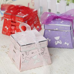 SweetS for baby Shower online shopping - Wedding Candy Box Romantic Sweet Bear Gift Favor Boxes With Ribbon Baby Shower Party Decoration For Guest ZA4461