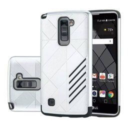100 Pcs Lot Caseology TPU + PC Hybrid Hard Rugged Impact Armor Back Cover  For LG K8 2017 K10 2017 G6 Stylo 3 Cell Phone Case