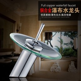 $enCountryForm.capitalKeyWord UK - Excellent Quality Solid brass Bathroom Basin Mixer Tap Waterfall Faucet Sink Vessel Chrome Polished Finish Glass