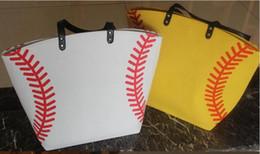 $enCountryForm.capitalKeyWord Canada - 2017 fast shipping Blanks Cotton Canvas Softball Tote Bags Baseball Bag Football Bags Soccer ball Bag with Hasps Closure Sports Bag