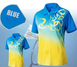 Sportswear T Shirt Badminton Australia - Free shipping summer men women badminton wear t-shirt quick-drying couple sportswear short sleeve breathable badminton t-shirt