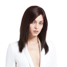 $enCountryForm.capitalKeyWord UK - Full Lace Wigs Remy human hair wig Full Lace Human Hair Wig Senior silk Long Wavy Brazilian Virgin Hair 100% With Bangs For women Color 6#