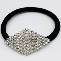$enCountryForm.capitalKeyWord NZ - 5pcs Prismatic silver plated rhinestone rubber band horsetail hair clip
