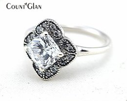 $enCountryForm.capitalKeyWord Canada - Compatible with European Pandora Jewelry Crystalized Floral Fancy Silver Rings Original 925 Sterling Silver Rings DIY Wholesale