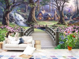 Modern Wallpaper European Fantasy World Forest Garden Custom Photo Wall Paper Murals Kids Room Background Mural