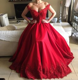 Barato Vestidos Formais Vermelhos Sexy Sem Costas-Hot Red 2018 Sexy Backless Prom Dresses Modern New A linha Off-Shoulder Beaded Andar de comprimento formal Evening Prom Dresses
