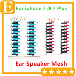 $enCountryForm.capitalKeyWord NZ - Original New Earpiece Speaker Anti-dust Screen Grill Mesh with Bracket Adhesive for iPhone 7G 4.7'' 7 Plus 5.5'' Replacement Parts 100PCS