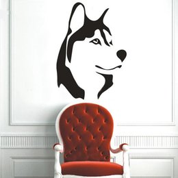 Wall Stickers Wolves Canada - Animal wolf huskie inspiring wall stickers customerized lovely decoration tiger large size sofa glass cabnet stickers home decal decor gift