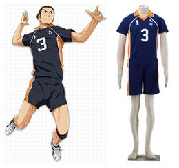 haikyuu cosplay 2019 - Haikyuu!! Karasuno High school volleyball Asahi Azumane jersey NO.3 Cosplay Uniform halloween costumes cheap haikyuu cos