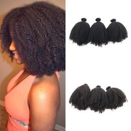 Afro kinky humAn hAir 3pcs online shopping - Brazilian Hair Afro Kinky Curly Human Hair Weaves mm Curly Hair Bundles g No Shedding G EASY
