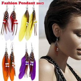 $enCountryForm.capitalKeyWord Canada - 2017 New arrival Vintage Hollow Fringed Feathers Long Earring For Women Fashion Jewelry India Bohemian Ear rings Earing