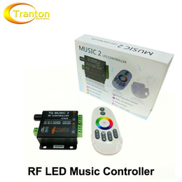 12v Music Controller NZ - Music LED RGB Controller DC12-24V Intelligent Sonic Sensitivity LED Backlight Control with RF Touch Remote Controller.