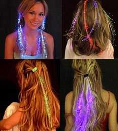 $enCountryForm.capitalKeyWord NZ - wholesale Luminous Light Up LED Hair Extension Flash Braid Party Girl Hair Glow by Fiber Optic Christmas Halloween Night Lights Decoration