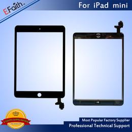Haute qualité pour iPad mini 1/2 mini 3 mini 4 Digitizer à écran tactile + bouton d'accueil IC + remplacement adhésif