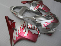 $enCountryForm.capitalKeyWord Australia - Injection molded top selling fairing kit for Honda CBR600 F4I 01 02 03 pink flames silver fairings set CBR600F4I 2001-2003 OT25