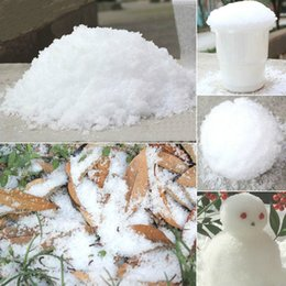 instant snow indoor decoration Canada - Magic Snow DIY Instant Artificial Snow Powder Simulation Snow magic perform Prop wedding Party Christmas indoor Decoration child gift 10g