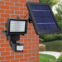 Discount 12v Solar Flood Lights Sensor Pir Motion Led Floodlights Outdoor Led Solar Lights Waterproof Led