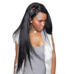 16 inch human hair wig 2019 - Malaysian Silky Straight Lace Front Human Hair Wigs for Black Women 8-26 inch Full Lace Wigs with Baby Hair G-EASY cheap