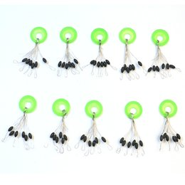 $enCountryForm.capitalKeyWord Australia - Wholesale- 10Pcs lot 6 in 1 Size L Black Rubber Oval Fishing Tackle Bobber Floater Stopper Float Line Vissen Pesca Acesorios Bobber Stops
