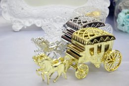 $enCountryForm.capitalKeyWord NZ - New Arrive clear gold Silver plastic carriage box wedding candy box chocolate box For Wedding Decoration Supplies free shipping