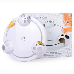 $enCountryForm.capitalKeyWord Canada - Hot New Explosion type electric cat toy funny cat pleasure plate fun puzzle picnic pet supplies