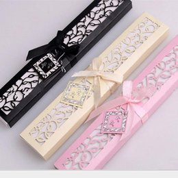 $enCountryForm.capitalKeyWord NZ - Luxurious Silk Fold hand Fan in Elegant Laser Cut Gift Box Black Ivory Party Favors Wedding Gifts Arts and Crafts Home 2017