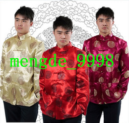 7a173e2fc178 Men Tang Suit Traditional Chinese Clothing Festive Wedding Shirt Costumes  Jackets Men Brocade Suit Outerwear Man Kungfu Shirt Costumes T411