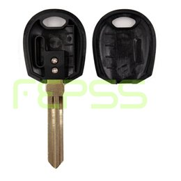 Keys Chip Shell Australia - NEW Transponder Ignition Key Case Cover Fob for KIA Replacement Shell Uncut Without Chip Available For Ceramics and TPX Chip